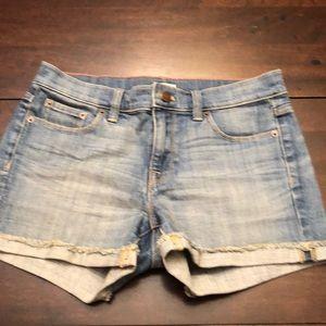 J Crew jean shorts.  Inseam 3.
